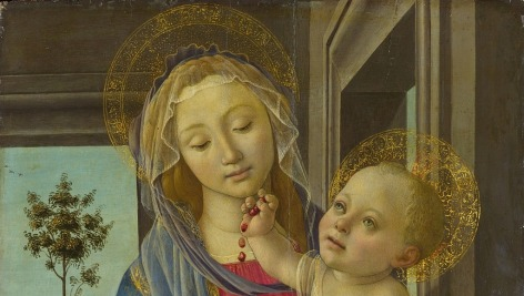Botticelli's Virgin with child and pomegranate.