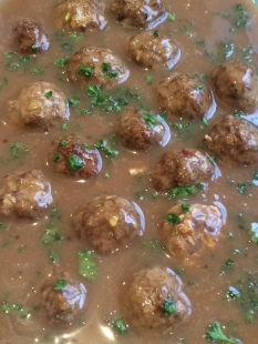 swedish meatballs in brown sauce